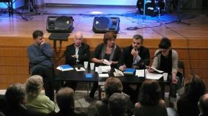 Από αριστερά προς τα δεξιά, Βάσιας Τσοκόπουλος, Γιάννης Κακουλίδης, Λίτσα Μπαφούνη, Κώστας Μπουρλετίδης, Μαρίσσα Τριανταφυλίδη